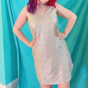 Lilly Pulitzer silver metallic mini dress +pockets